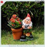 Украшение сада цветочного горшка Figurine Gnome сада смолаы