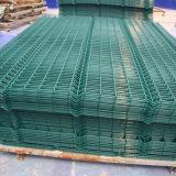 Cerca revestida del acoplamiento de alambre del PVC del acero euro