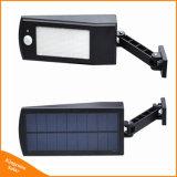 Indicatore luminoso esterno di obbligazione del sensore solare 48 LED per l'angolo a fascio registrabile del cortile del percorso del giardino