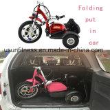 3개의 바퀴 전기 스쿠터 Trikke 기동성 스쿠터 전기 자전거를 접히는 16inch