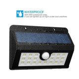 Indicatore luminoso esterno della parete dell'indicatore luminoso del sensore di movimento della carica solare