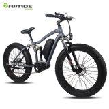 Bici eléctrica de la suspensión de la montaña llena de la nieve con el MEDIADOS DE motor impulsor