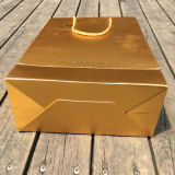 Gebildet China-im kundenspezifischen Goldfarben-Einkaufstasche-Geschenk-Verpackungs-Großhandelsbeutel