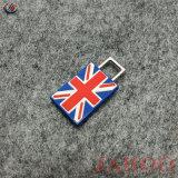Kundenspezifische Entwerfer-BRITISCHE Markierungsfahnen-Gummireißverschluss-Abzieher für Kleid
