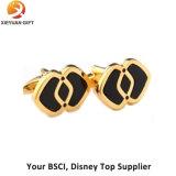 Boutons de manchette neufs d'or de Rose de logo de modèle de vente chaude pour des garçons