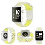Haut de la vente Classic Sports double bande de couleurs en silicone pour Apple Watch Watch