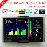 """Android Market 7.0"""" Touch Gravador de Vídeo Digital carro construído em 1GB DDR,8GB Flash;Transmissor FM;navegação por GPS;2.0Mega o Full HD1080p Câmara ;AV-na câmara de Estacionamento"""