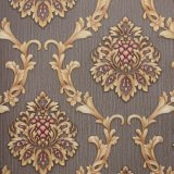 Fleur de luxe en relief le papier peint décoratif papier peint