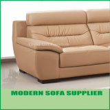 高品質の卸し売り革によって装飾される角のソファー
