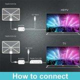 Белый цифровой антенны с усилителем для HDTV используйте Cjh258A