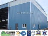 Tettoia prefabbricata del magazzino della costruzione della struttura d'acciaio