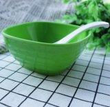 Wheatstraw vajilla biodegradable de fibra de bambú color ensaladera