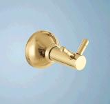 Badezimmer-goldenes Farben-Doppelt-Glas-Regal