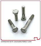 DIN931 SUS304, 316 vis à tête hexagonale en acier inoxydable de la moitié de filetage M6x30 à M6X150