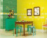 De de lichtgele 4X8inch/10X20cm Verglaasde Glanzende Ceramische Badkamers van de Tegel van de Metro van de Muur/Decoratie van de Keuken