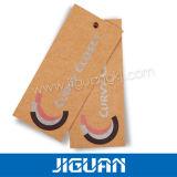 Сложите бирку Hang одежды печатание картона 4c Kraft