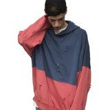 Nuovo colore 2017 di Streetwear due di arrivo Hoodie strappato surdimensionato