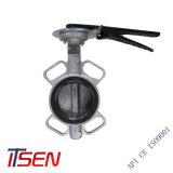 DIN/ANSI/JIS/API CF8 en acier inoxydable/CF8m type galette Vanne papillon pour PN10/PN16 ou 10K/16K ou de classe pour Sanitaty150/300/600/gaz/eau/huile