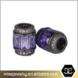 O encanto oblongo do corte perla os grânulos de cristal para a jóia que faz Mjcc020