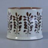 supporti di candela di ceramica decorati dipinti a mano di fragranza del reticolo di fiore 478ml