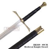 Espadas medievais HK569 89cm da decoração da espada de Swordsknight