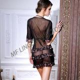 Robe mignonne neuve de gâteau de lingerie avec les sous-vêtements transparents de dames de courroie