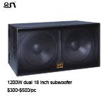 18 Zoll verdoppeln professioneller leistungsfähiger DJ-Audiolautsprecher Subwoofers