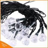 indicatori luminosi alimentati solari della stringa di figura del diamante 50LED per il partito di giardino