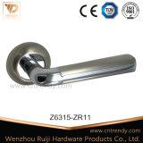 White Ceramic Door Lever concerns with bends Round Butt (Z6363-ZR05)
