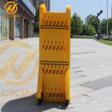 Barricade van de Controle van de Menigte van de kant van de weg Gele Uitzetbare Plastic