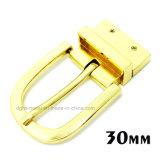 La boucle de courroie réversible en alliage de zinc de Pin de boucle en métal de qualité pour la robe ceinture les sacs à main de chaussures de vêtement (ZD004--ZD007)