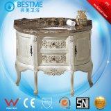 حارّ عمليّة بيع غرفة حمّام خزانة مستديرة مع طبيعة رخام من الصين [ب-ف8011]
