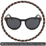[و6060] لوح التزلج خشبيّة مزدوجة برشام [رترو] سندويتش لوحة خشبيّة استقطب يخيط أقدام نظّارات شمس