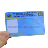 Tarjeta plástica imprimible de encargo de la identificación de la calidad de miembro del PVC Cr80