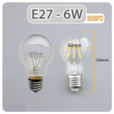 Edison LED Lámpara de filamento de estilo A60 E27 4W Bombilla LED UL