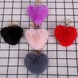 Multi Color POM, de chaîne de clé la fausse fourrure pompons