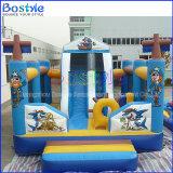 A cidade inflável do divertimento do parque de diversões padrão do Ce caçoa o castelo