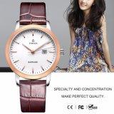 Signora di vetro Brand Quartz Watches71011 della vigilanza della fascia dello zaffiro di cuoio dell'OEM