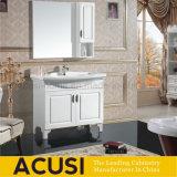 Vaidade moderna do banho da laca cerâmica branca da madeira compensada da bacia da cor (ACS1-L35)