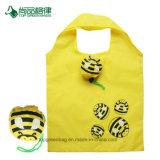 Preiswerte 190t 210d Polyester-mehrfachverwendbare fördernde reizende Bienen-faltbare Einkaufstasche