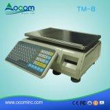 Scala di calcolo di ponderazione di stampa del contrassegno della scala 30kg di prezzi elettronici di TM-B