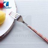 Insiemi di plastica della coltelleria del pranzo dell'acciaio inossidabile della maniglia di Cathylin 24PCS