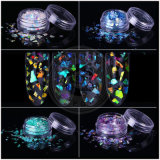 Unhas de acrílico cintilante papel película holográfica Mermi-Corn Destroçados Flocos de vidro