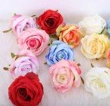 Fleurs artificielles de haute qualité photo de mariage Studio Fleur Rose mur de fond 7/8cm Tête rose