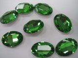 De ovale Parels van de Bergkristallen van het Punt van het Kristal Achter voor de Component van Juwelen