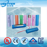 Bateria de Iões de Lítio cilíndrico 18650 Bateria de célula de bateria de íons de lítio