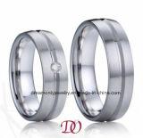 単リングのステンレス鋼の宝石類のリング