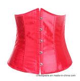 Entrenamiento deshuesado acero de la cintura del corsé de Underbust de las mujeres más pechugón