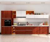 Cabinas de cocina de madera de la chapa de madera de los muebles del estilo de Bck Fashinoable