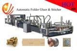 Het Automatische het Vouwen van de hoge snelheid Lijmen en Machine Stitcher